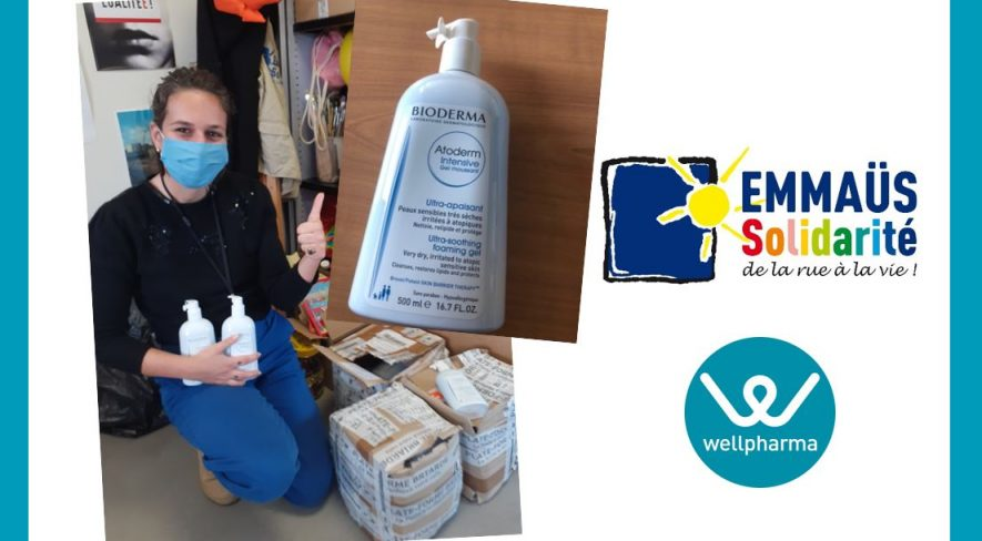 Partenariat wellpharma et Emmaus solidarité
