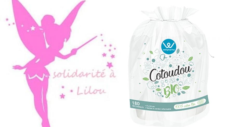 Wellpharma et laboratoire marque verte s'engagent pour l'association Lilou en offrant des Cotoudou