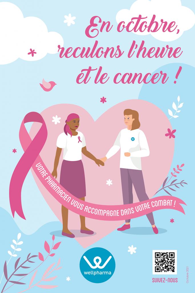 Affiche octobre 2021 pour le reseau de phamacies wellpharma