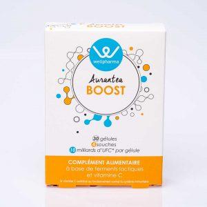 Boite de complément alimentaire wellpharma aurantea boost