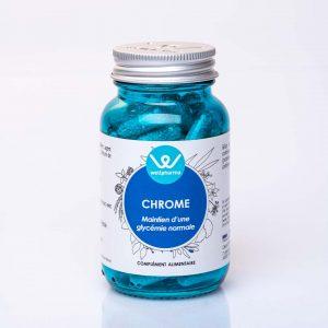 Flacon de complément alimentaire wellpharma de chrome