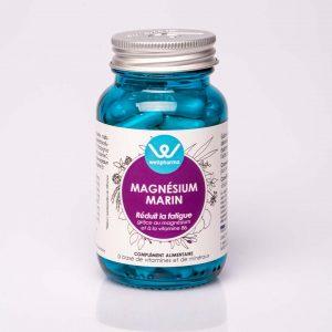 Flacon de complément alimentaire wellpharma de magnésium marin