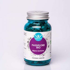Flacon de complément alimentaire wellpharma de passiflore bio