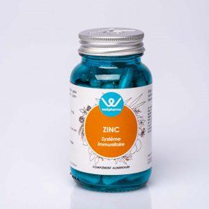 Flacon de complément alimentaire wellpharma de zinc