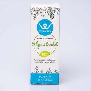 Boite d'huile essentielle wellpharma thym à linalol bio